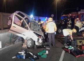 Heridas tres personas tras impactar dos vehículos en el distrito de Villaverde