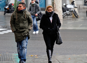 El frío se apodera de Madrid