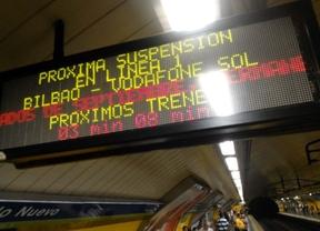 Cartel luminoso de Metro