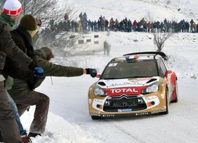 La nieve espera a los participantes en el Rallye de Montecarlo