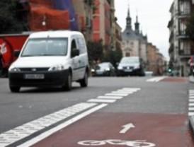 La calle Mayor ya tiene carril bici