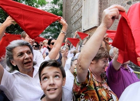 Madrid se viste de pamplonica para el 'chupinazo'