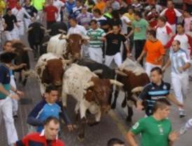 Seis heridos leves por contusiones en el segundo encierro de las fiestas de San Sebastián de los Reyes