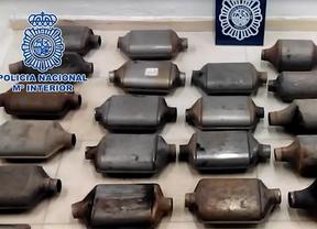 Detenidos por el robo de catalizadores de vehículos