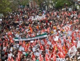 CC OO y UGT calientan la huelga general del 14-N