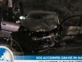 Dos accidentes graves en Madrid