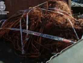 La policía requisa 26 toneladas de cobre robado