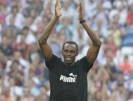Usain Bolt en el Bernabéu: