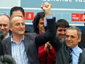 Simancas y Sebastián defienden juntos el voto 'por la gente y contra nadie'
