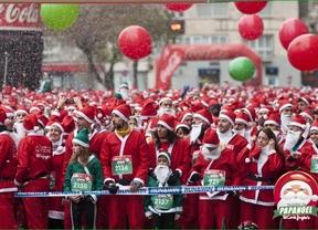Casi 5.200 corredores baten en Madrid el record guiness de correr vestido de Papá Noel