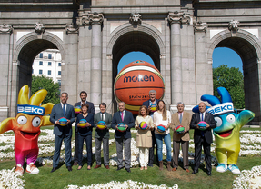 Presentación de la Copa del Mundo de Baloncesto 2014. Puerta de Alcala