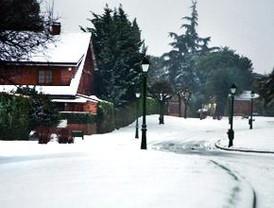 La nieve colapsó este lunes Madrid