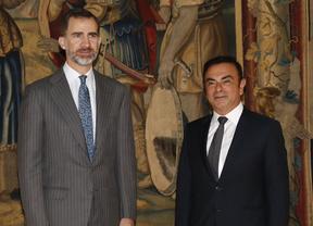 El rey Felipe VI recibe a Carlos Ghosn, presidente de Renault-Nissan
