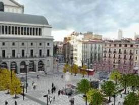 Comienza la peatonalización de la plaza de Isabel II