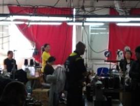 Desmantelado un taller textil clandestino en Carabanchel