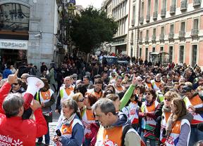 Los trabajadores de Telemadrid marchan