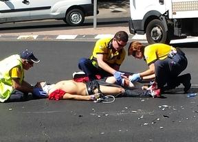 Herido leve en un accidente de moto en Arturo Soria