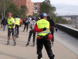 Ruta turística por Madrid Río sobre patines