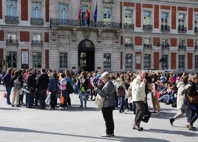 Turistas en la plaza de Sol