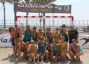 Oro en balonmano playa para las chicas del Getasur