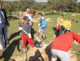 Escolares plantan 250 árboles en la Casa de Campo
