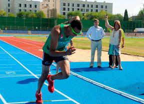 Reapertura de la pista de atletismo.