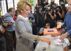 Los candidatos madrileños ejercen su derecho a voto