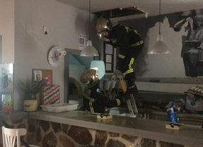 Incendio en una pizzería de Torrelodones