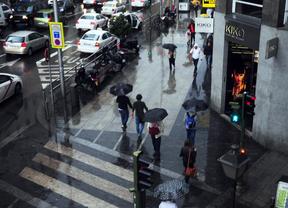 La lluvia provoca 140 accidentes y alteraciones del tráfico