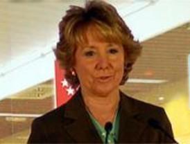 Aguirre abre la campaña electoral en la plaza de Colón