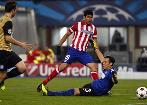 Un doblete de Diego Costa acerca al Atleti a octavos