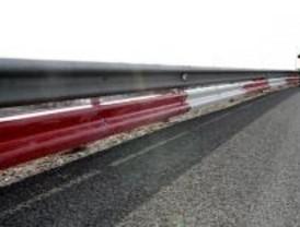 Las primeras barreras de protección para motoristas se colocan en la M-45