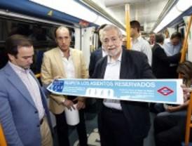 Metro lanza una campaña para que se respeten los asientos reservados