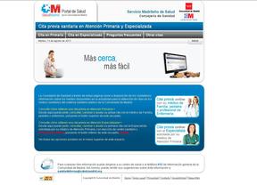 Página web para solicitar citas con especialistas