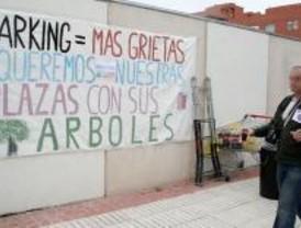 Protestan contra la construcción de un parking en Valdebernardo