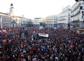 Manifestación por la república en la Puerta del Sol.