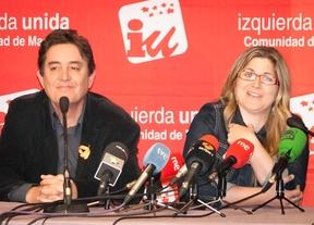 Luis Garcia Montero y Raquel Lopez en la presentación de los candidatos de IU.