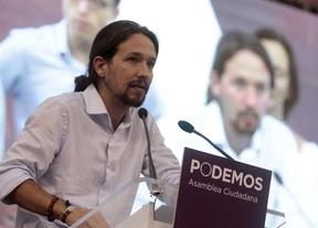 Pablo Iglesias en la asamblea de Podemos