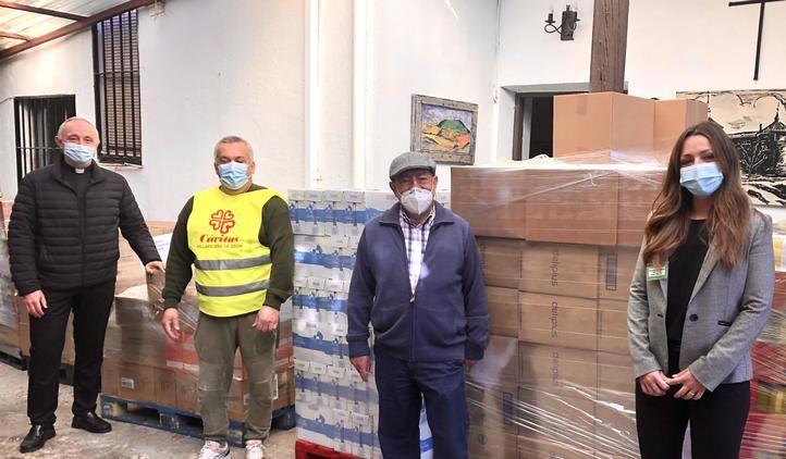 Mercadona dona a Cáritas Villaviciosa de Odón más de 3.000 kg de productos de primera necesidad