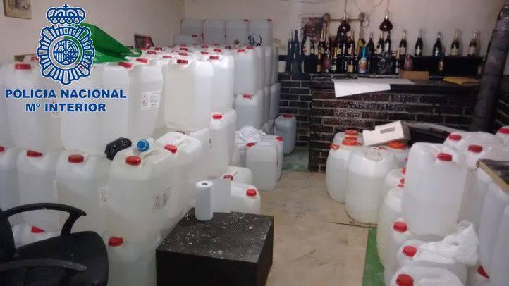La Policía Nacional desmantela un completo laboratorio de cocaína