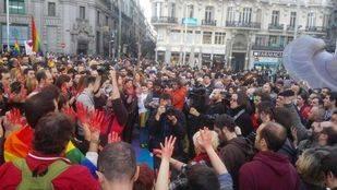 Concentración contra las agresiones homófobas en las calles de Madrid
