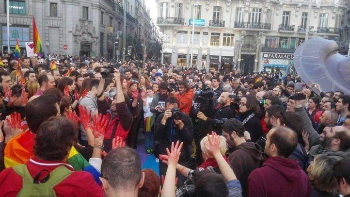 Concentración contras las agresiones homófobas en Madrid