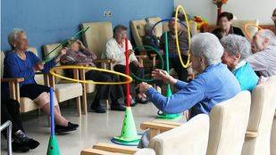 Aula de psicomotricidad del Centro Alzheimer Fundación Reina Sofía