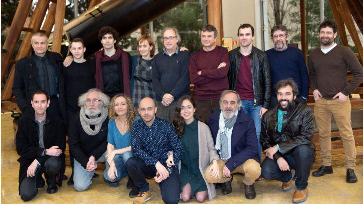 Compañía 'Galileo' en el observatorio