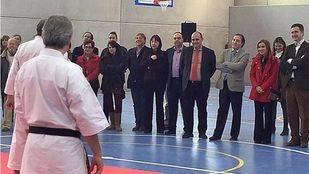 Inauguración del polideportivo en Buitrago del Lozoya