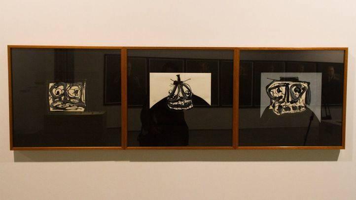 'Sudario, Caballero y Retrato imaginario' de Antonio Saura.