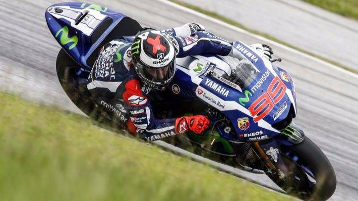 Jorge Lorenzo en la �ltima jornada del test oficial de MotoGP en el Circuito Internacional de Sepang