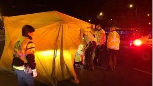 Muere un joven, atropellado por un taxi en Plaza Castilla