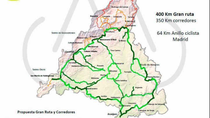 La Comunidad anuncia 'Ciclamadrid', una ruta ciclista circular de más de 400 kilómetros