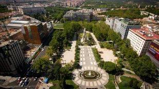 Vista a�rea de la plaza de Espa�a.